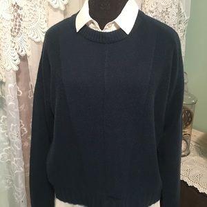 Rails Cropped Cashmere Wool Blend Sweater Sz M